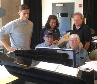Image of Wallenberg Team around piano